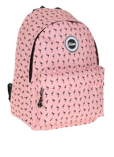 Fudela Fudela Flamingo Desenli Sırt Çantası Renkli